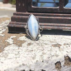 Jewelry - Owyhee Opal Sterling Silver Ring Sz 10